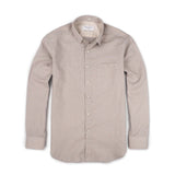 LINEN DETACHABLE COLLAR-SMOKE GREY