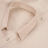 LINEN DETACHABLE COLLAR-BEIGE