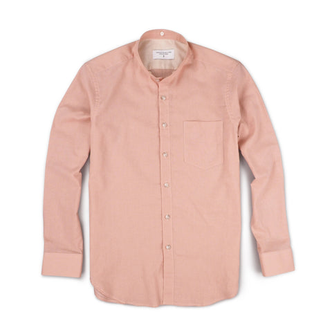 LINEN DETACHABLE COLLAR-SALMON