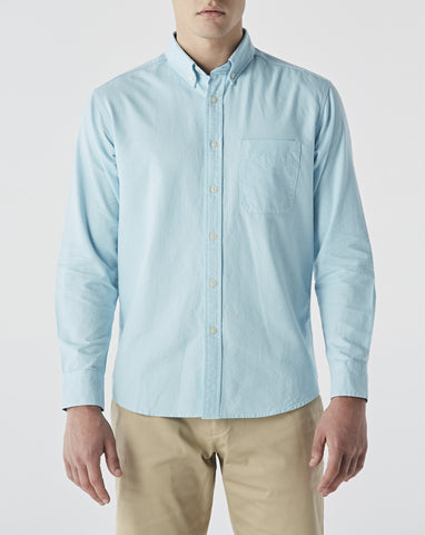 MINT GREEN OXFORD WITH PLAID COTTON TWILL