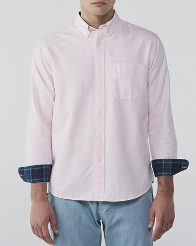 PASTEL PINK OXFORD WITH PLAID COTTON TWILL