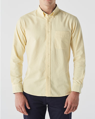PASTEL YELLOW OXFORD WITH PLAID COTTON TWILL