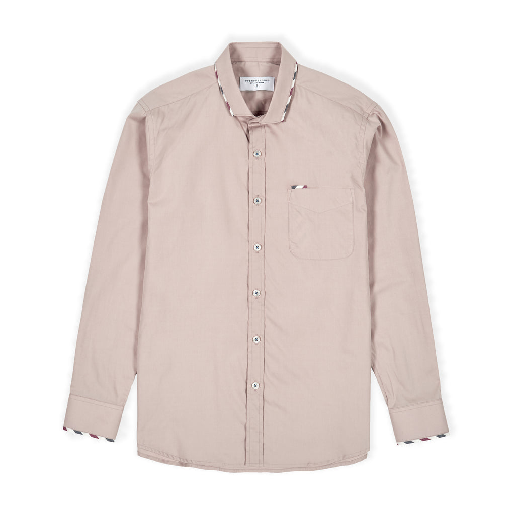FLAG SHIRT - ALMOND