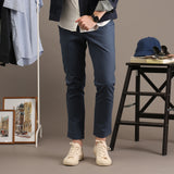 TAGGING CHINO PANTS-BLUE