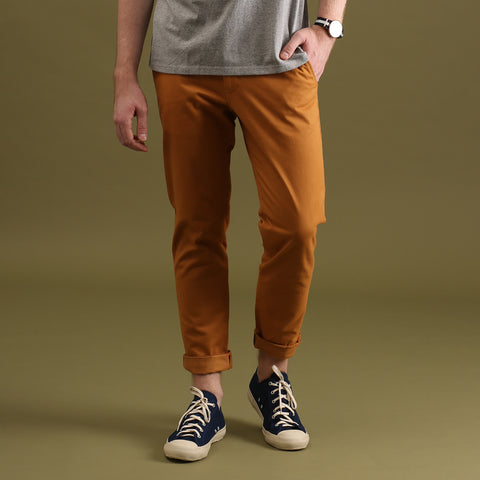 TAGGING CHINO PANTS-MUSTARD