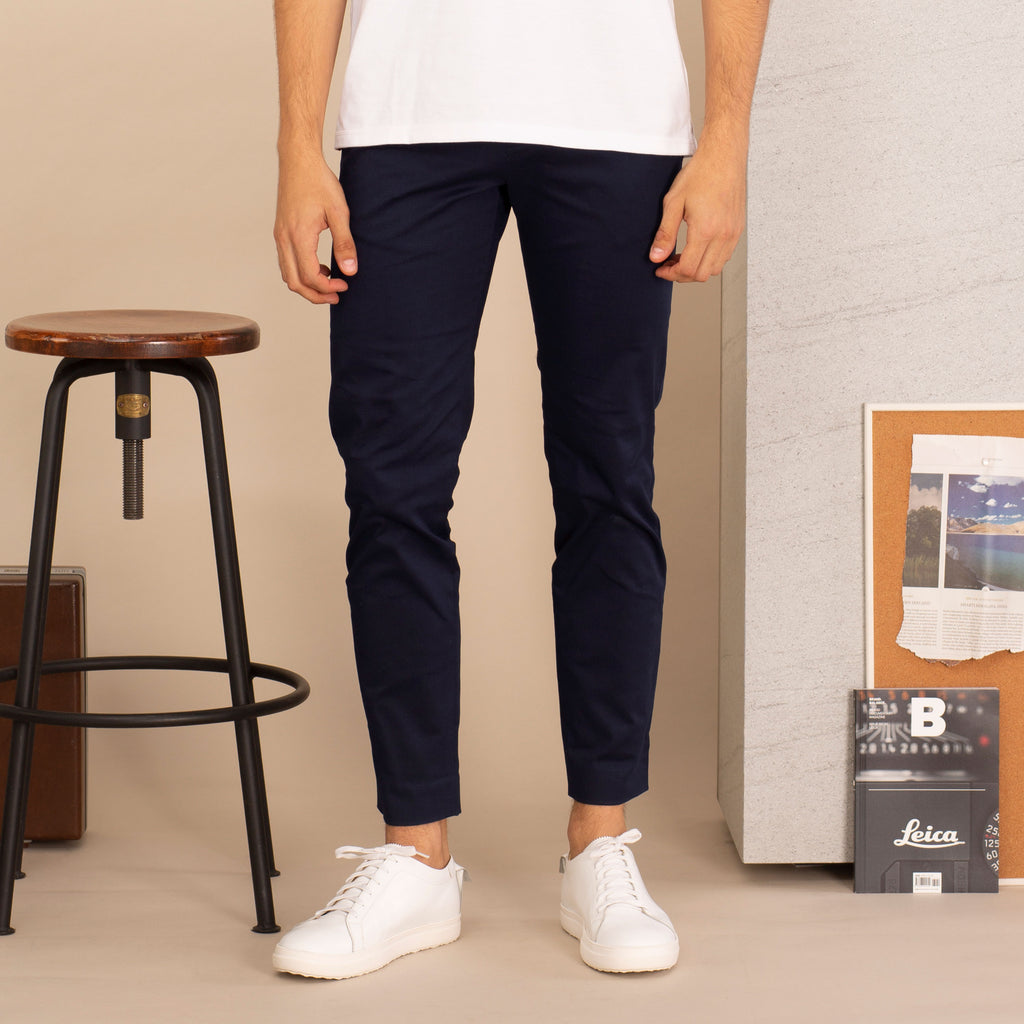 RUST CHINO PANTS-NAVY