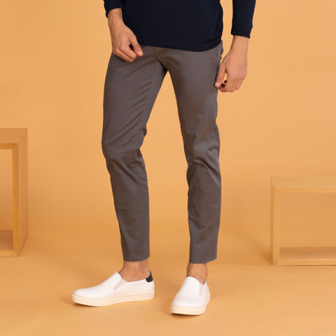RUST CHINO PANTS-DARK GREY