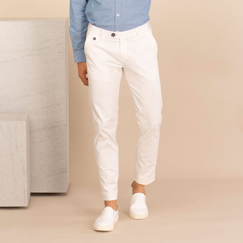 RUST CHINO PANTS-WHITE