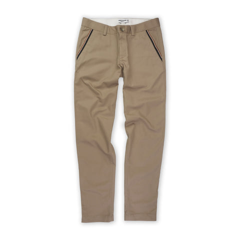 Cotton chino pant with ribbon pocket Khaki