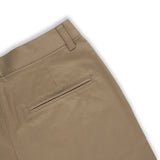 Pleat chino pants Brown