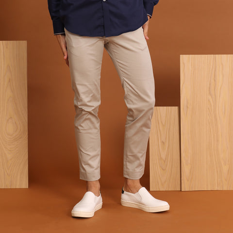 RUST CHINO PANTS-SMOKE GREY