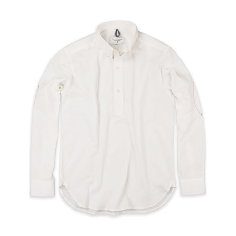 CHAMBRAY PULLOVER SHIRT WHITE