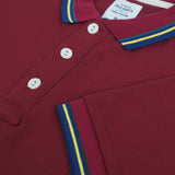 The Signature Polo tees-Flag Maroon