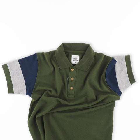 The Signature Polo tees-Block Green