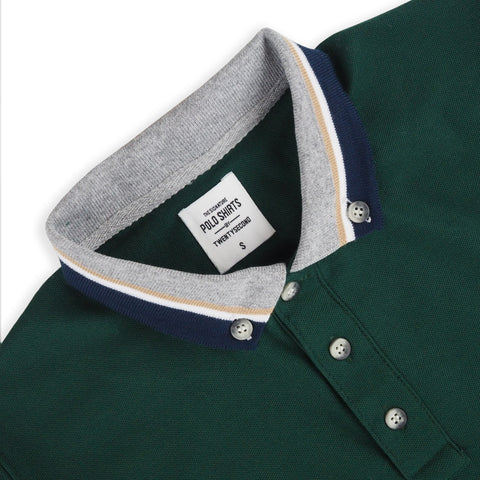 BROOK POLO TEES -GREEN
