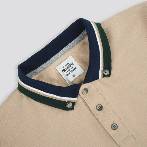 BROOK POLO TEES -KHAKI