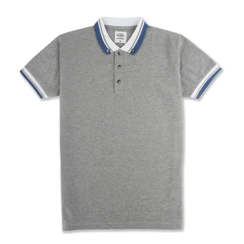 BROOK POLO TEES -HEATHER GREY