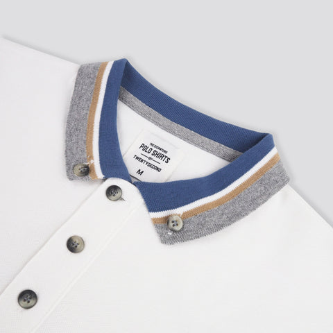 BROOK POLO TEES -WHITE