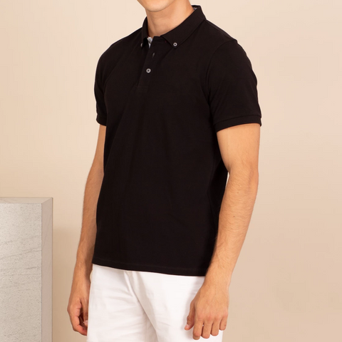 DRIP POLO TEES - BLACK