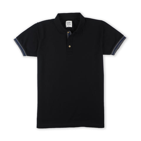 FLIP POLO TEES - BLACK