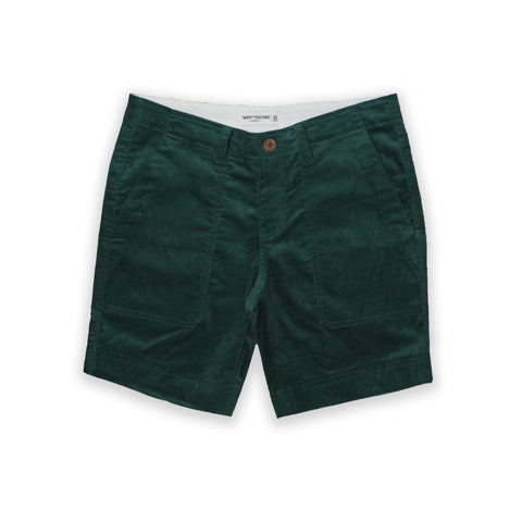 NEW CORDUROY CARGO SHORTS-DARK GREEN