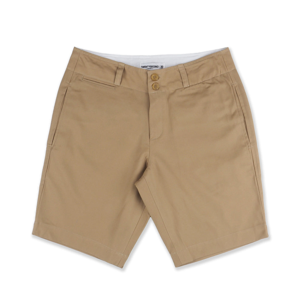 REGULAR CHINO SHORTS #02 BROWN