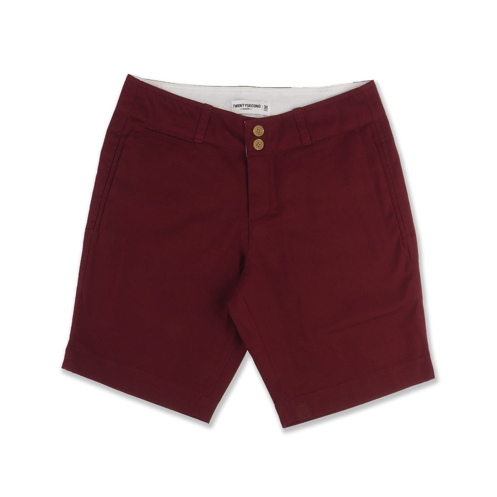 REGULAR CHINO SHORTS #02 MAROON
