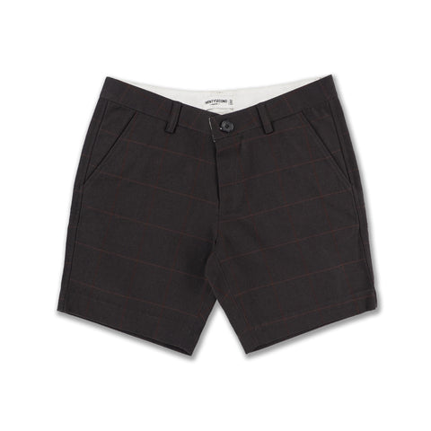 CHOCO COTTON CANVAS PRINT SHORTS