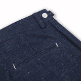 BRUSHED CHAMBREY NAVY EXTRA SHORTS