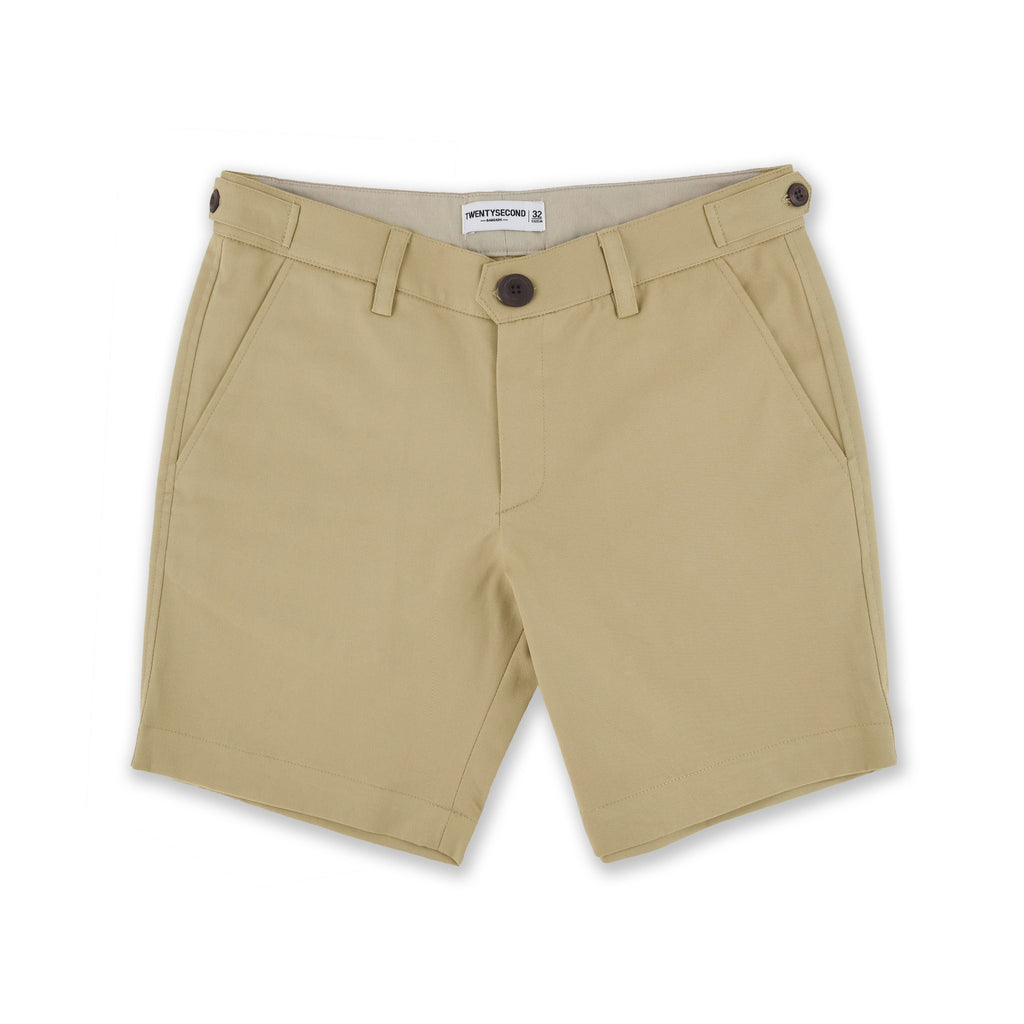 SIGNATURE CHINO SHORTS-GOLDEN