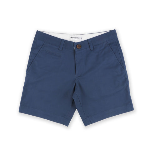 BASIC CHINO SHORTS-COBALT BLUE