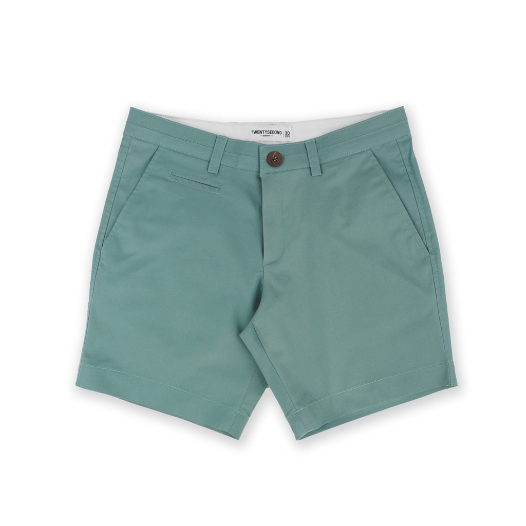 BASIC CHINO SHORTS-PASTEL GREEN