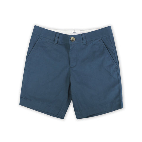 EXTRA CHINO SHORTS-STEEL BLUE TAGGING