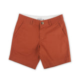 EXTRA CHINO SHORTS-BURNT ORANGE TAGGING