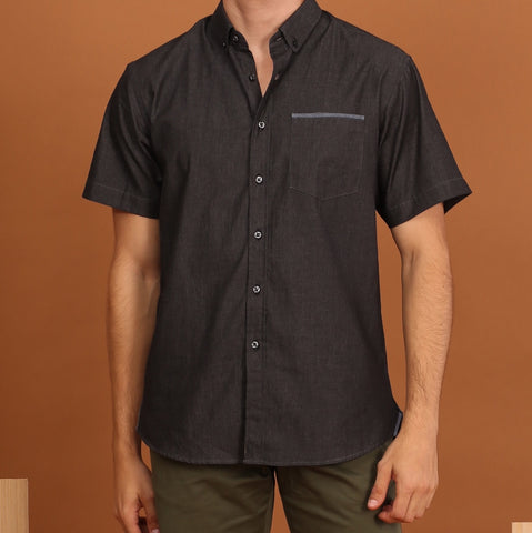 FADE BLACK SHORT SLEEVES SHIRT