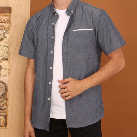 FADE NAVY SHORT SLEEVES SHIRT