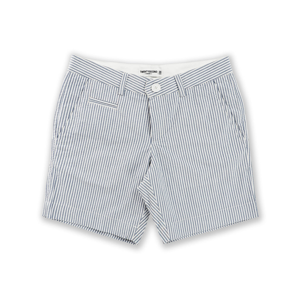 SEERSUCKER EXTRA SHORTS - NAVY