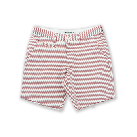 SEERSUCKER EXTRA SHORTS - RED