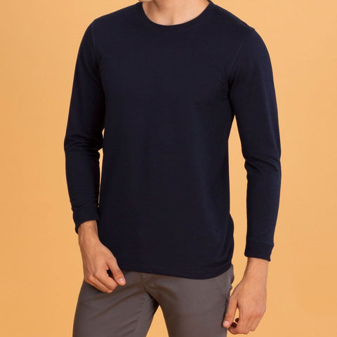 LONG SLEEVES CREW NECK : NAVY