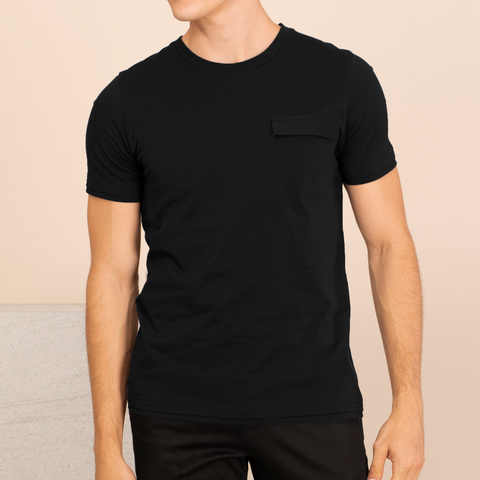 LAYER POCKET TEE - BLACK