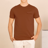 LAYER POCKET TEE - BRICK