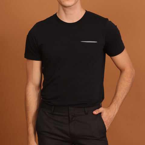 TWIST POCKET TEE - BLACK