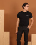 TWIST POCKET TEE : BLACK