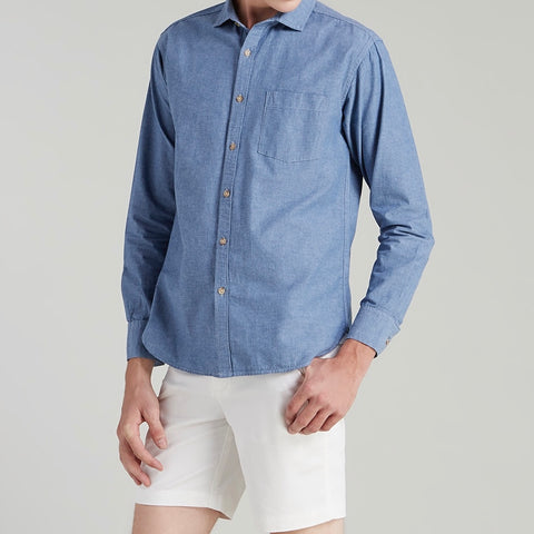 WEEKEND CHAMBRAY SHIRT - BLUE
