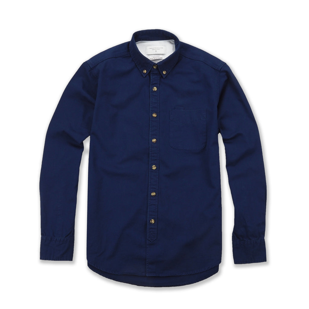 TWILL WORK SHIRT - NAVY BLUE