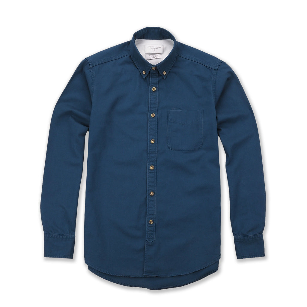 TWILL WORK SHIRT - MIDNIGHT GREEN