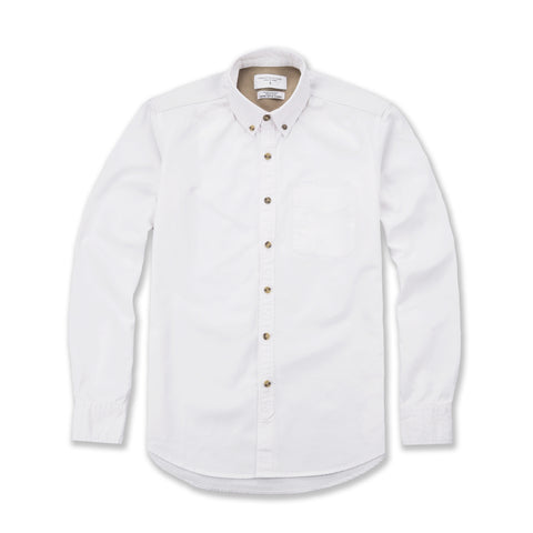 TWILL WORK SHIRT - WHITE