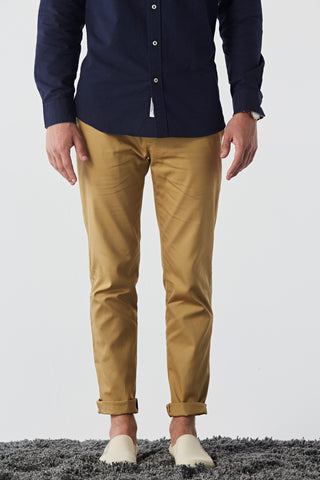 Tyler cotton twill chino : Golden