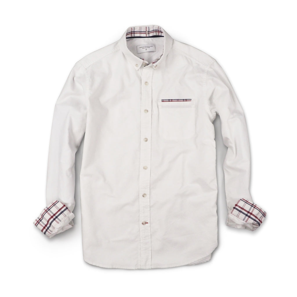 BRIT OXFORD DETACHABLE-WHITE