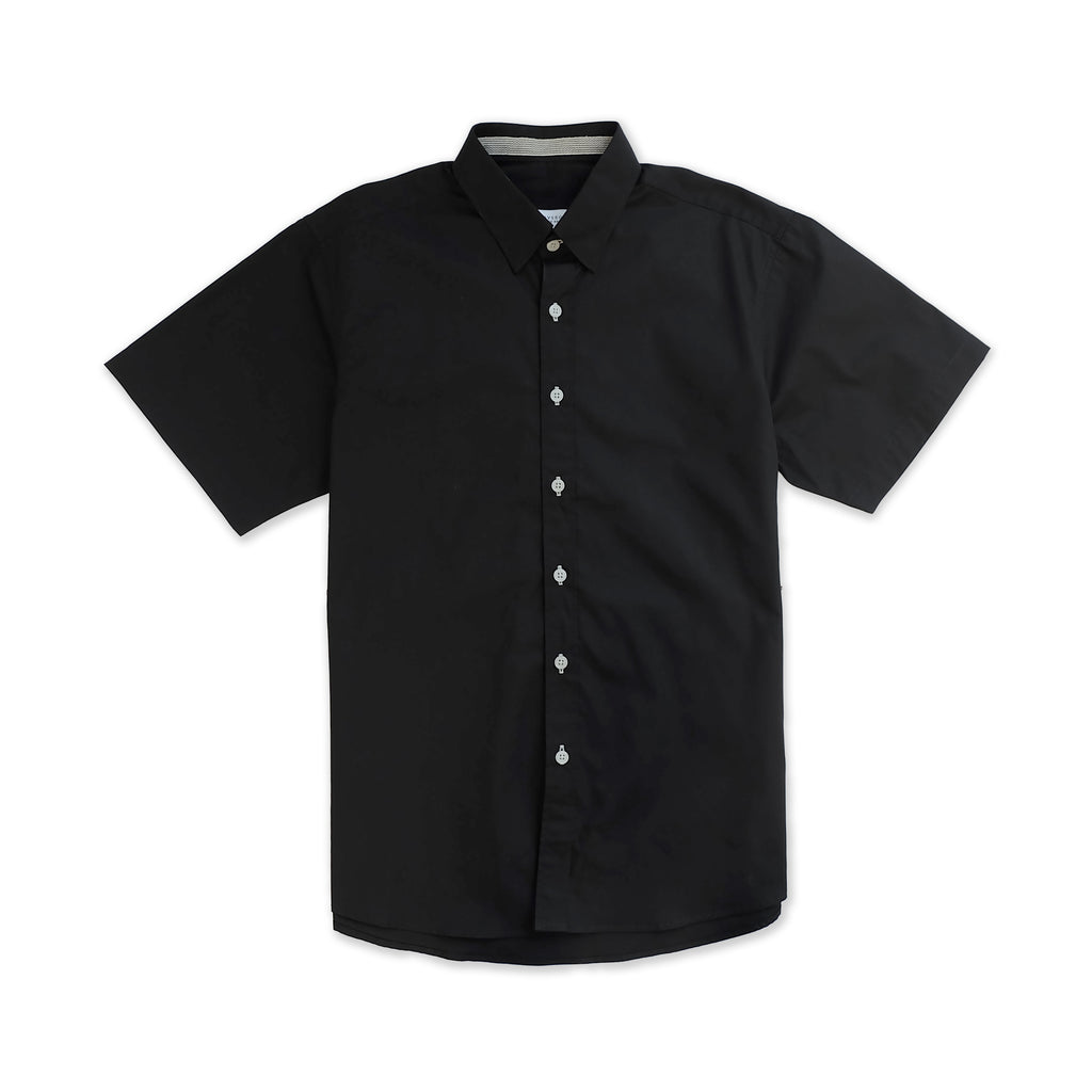 LUKAS COTTON SHIRT - BLACK